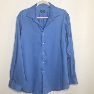 KENNETH COLE REACTION BUTTON DOWN BLUE SIZE:16 1/2